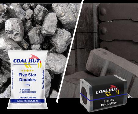 Five Star Doubles 25kg / Lignite Briquettes 10kg