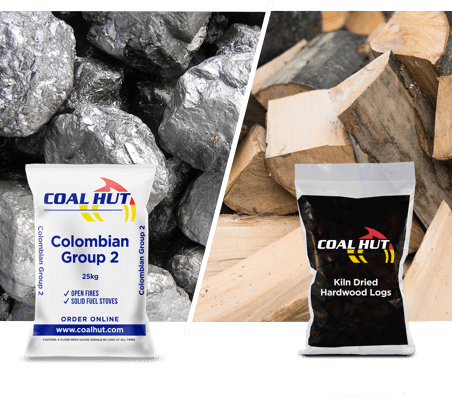 Colombian Group 2 Coal 25Kg / Kiln Dried Hardwood Logs (Bag)