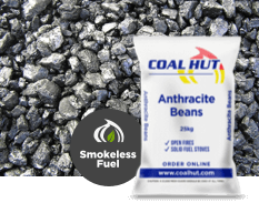 Anthracite Beans Smokeless Fuel 25kg